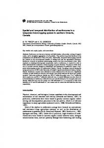 Spatial and temporal distribution of earthworms in a ... - Springer Link