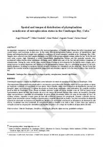 Spatial and temporal distribution of phytoplankton as