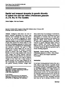 Spatial and temporal dynamics in genetic diversity in upland ... - Core