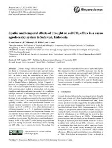 Spatial and temporal effects of drought on soil CO2 ... - Biogeosciences