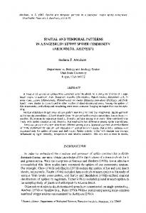 SPATIAL AND TEMPORAL PATTERN S IN A ... - American Arachnology