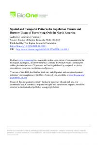 Spatial and Temporal Patterns In Population Trends ...