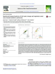 Spatial and temporal patterns of soil water storage and vegetation ...