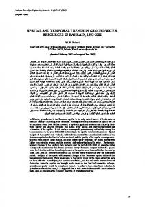 spatial and temporal trends in groundwater resources in bahrain, 1992 ...