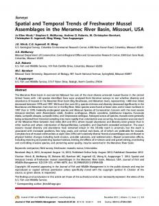 Spatial and Temporal Trends of Freshwater Mussel Assemblages in ...