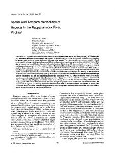 Spatial and temporal variabilities of hypoxia in the ... - Springer Link