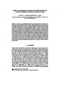 SPATIAL AND TEMPORAL VARIABILITY IN THE ... - CiteSeerX