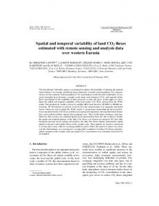 Spatial and temporal variability of land CO2 fluxes estimated with