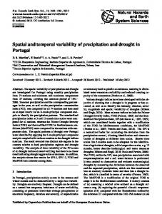 Spatial and temporal variability of precipitation and drought in Portugal