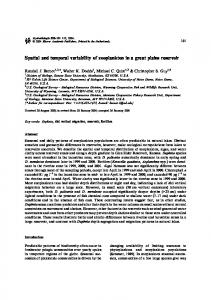 Spatial and temporal variability of zooplankton in a great plains reservoir
