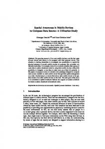 Spatial Awareness in Mobile Devices to Compose ... - Springer Link