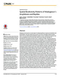 Spatial Biodiversity Patterns of Madagascar's