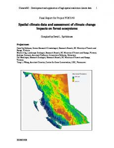 Spatial climate data and assessment of climate change impacts on ...