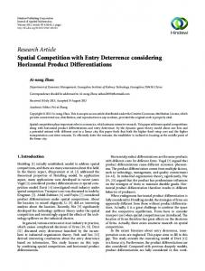 Spatial Competition with Entry Deterrence considering Horizontal ...