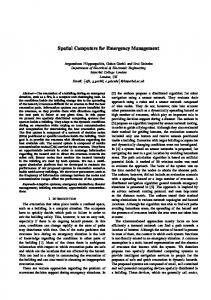 Spatial Computers for Emergency Management - Spatial Computing