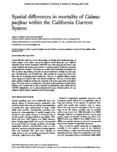 Spatial differences in mortality of Calanus pacificus within ... - CCE LTER