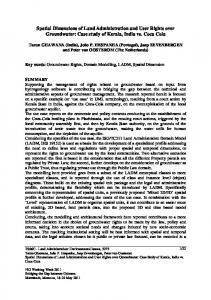 Spatial Dimensions of Land Administration and User Rights over ...
