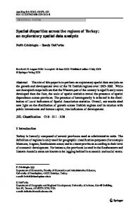 Spatial disparities across the regions of Turkey: an exploratory spatial ...