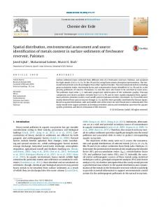 Spatial distribution, environmental assessment and ...