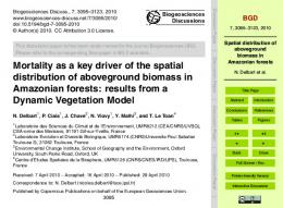 Spatial distribution of aboveground biomass in