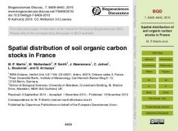 Spatial distribution of soil organic carbon stocks in ...