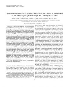 Spatial Glutathione and Cysteine Distribution and Chemical ...