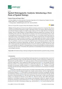 Spatial Heterogeneity Analysis: Introducing a New Form of Spatial ...