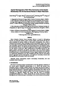 Spatial Heterogeneity of Soil Mite Community and its Spatial ... - SERSC