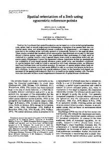 Spatial orientation of a limb using egocentric reference ... - Springer Link
