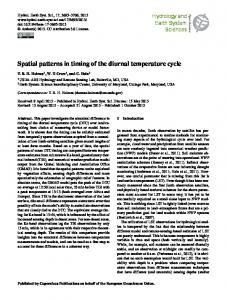 Spatial patterns in timing of the diurnal temperature ... - PubAg - USDA