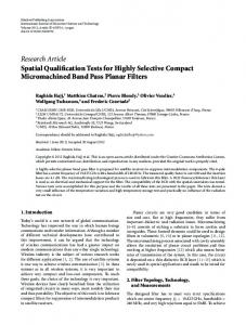 Spatial Qualification Tests for Highly Selective Compact ...