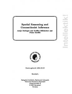 Spatial Reasoning and Connectionist Inference