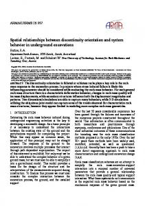 Spatial relationships between discontinuity orientation