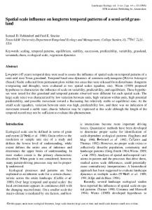 Spatial scale influence on longterm temporal patterns of a ... - CiteSeerX