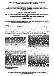 spatial-spectral classification based on the ... - ISPRS Annals