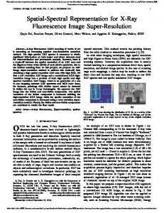 Spatial-Spectral Representation for X-Ray ...