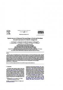 Spatial structure of demersal fish assemblages in South and ... - Core