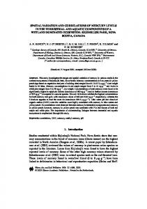 spatial variation and correlations of mercury levels in the ... - CiteSeerX