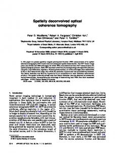 Spatially deconvolved optical coherence tomography - OSA Publishing