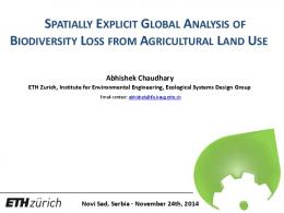 spatially explicit global analysis of biodiversity loss ...