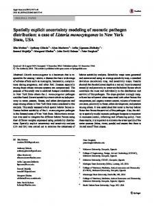 Spatially explicit uncertainty modeling of zoonotic ... - Springer Link