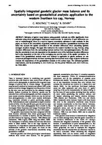 Spatially integrated geodetic glacier mass balance and its uncertainty ...