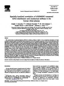 Spatially-localized correlation of dGEMRIC-measured GAG ...