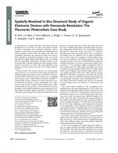 SpatiallyResolved InSitu Structural Study of ... - Wiley Online Library