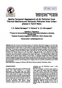 Spatio-Temporal Assessment of Air Pollution from Thermal Stations ...