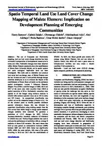 Spatio Temporal Land Use Land Cover Change ...
