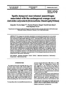 Spatio-temporal macrofaunal assemblages ... - Inter Research
