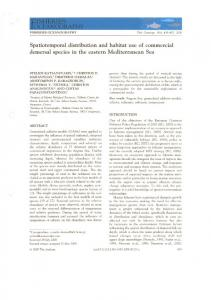Spatiotemporal distribution and habitat use of