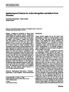 Spatiotemporal Features for Action Recognition and Salient Event