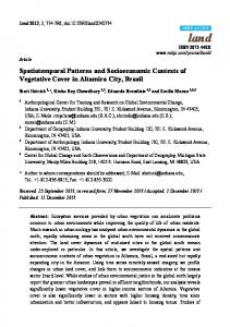 Spatiotemporal Patterns and Socioeconomic Contexts of ... - MDPI